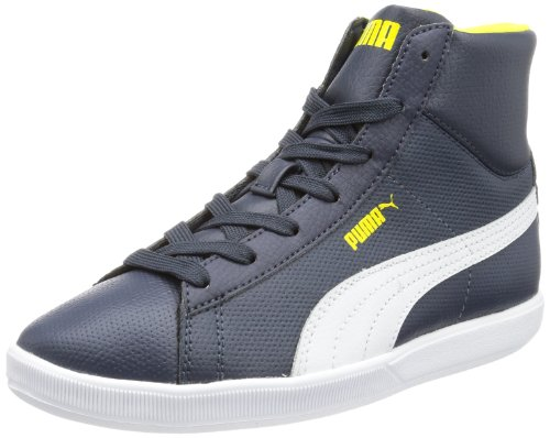 Puma Archive Lite MID L Jr High Top Unisex-Child Blue Blau (new navy-white-blazing yellow 03) Size: 38/5 UK
