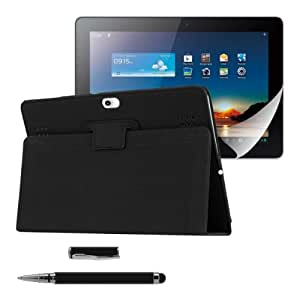kwmobile 3in1 set: Elegant synthetic leather case for Huawei MediaPad
