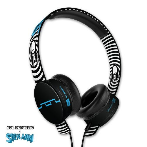 SOL REPUBLIC 1293-00 Steve Aoki Tracks HD On-Ear Headphones