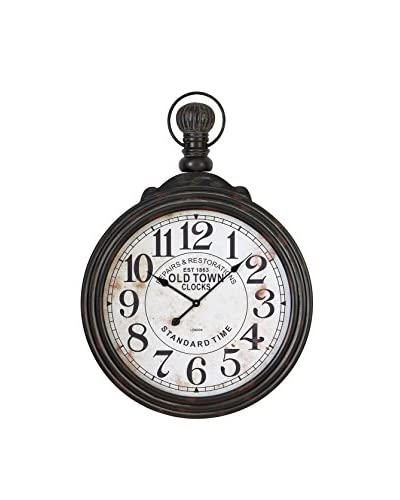 Deco 79 Wood Wall Clock, Dark Brown