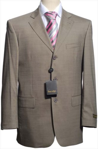 $650 NEW ITALIAN Solid Beige Men Wool Suit Sz 36R 36 R - Buy $650 NEW ITALIAN Solid Beige Men Wool Suit Sz 36R 36 R - Purchase $650 NEW ITALIAN Solid Beige Men Wool Suit Sz 36R 36 R (Gean Michel, Gean Michel Apparel, Gean Michel Mens Apparel, Apparel, Departments, Men, Suits & Sport Coats, Suits & Separates, Single-Breasted)