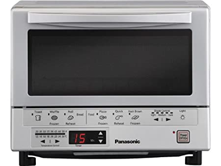 Panasonic NB-G110P Flash Xpress Toaster Oven, Silver $88.99