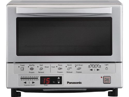 Panasonic NB-G110P Flash Xpress Toaster Oven, Silver Amazon.com