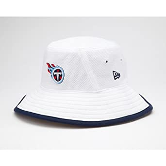 NFL Tennessee Titans Training Camp Bucket Hat, White, One Size Fits All by New Era