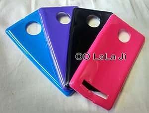 Glossy Premium Quality Back Cover For Micromax Unique / Yunique Purple