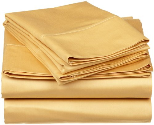 Impressions 1500 Series Wrinkle Resistant Twin 3-Pc Sheet Set Solid, Gold front-399470