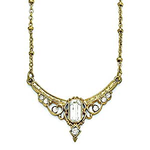 Amazon.com: Gold-tone Downton Abbey Clear Crystal & Glass Necklace in