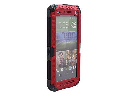 Queens® Aluminum Hard Metal Corning Gorilla Glass Shockproof Dustproof Snowproof Water Resistant Protective Case For Htc One M8 With Clearly Screen Protect And Touch Pen (1-Red) front-57134