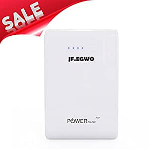 Jfegwo Portable Charger Multi-Functional 6200mAh with Foldable AC Plug External Battery Pack Power Bank