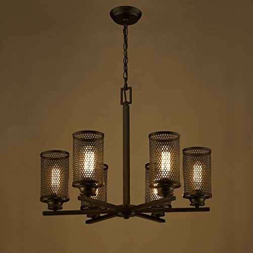 Ecopower Vintage ORB Iron Mesh Cylinder 6-lights