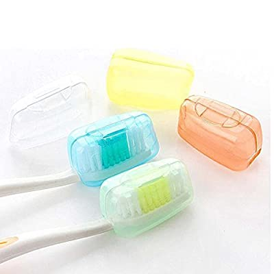 1Set/5PCS Quality Travel Camping Protect Toothbrush Head Cleaner Cover Case Box Holder