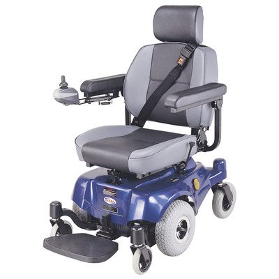 Compact Mid - Wheel Drive Power Chair Color: Blue