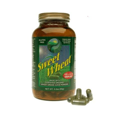 Sweet Wheat Jumbo Wheatgrass Capsules 180