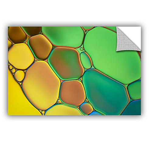 """ArtWall Cora Niele's Stained Glass III Appeelz Removable Graphic Wall Art, 12 by 18"""""""