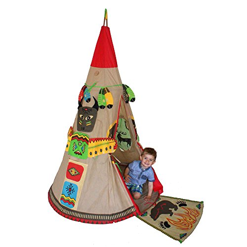 kiddyplay-red-indian-teepee-playset