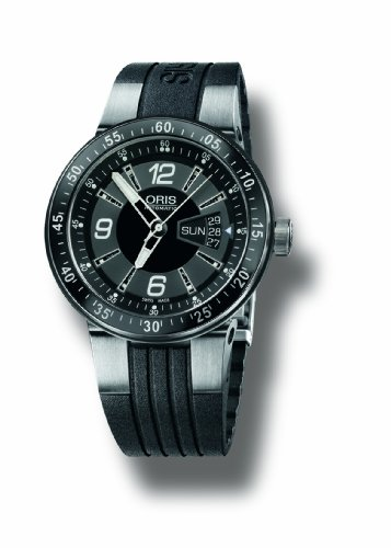 Oris Men's 4164RS Williams F1 Team Black Dial and Stainless Steel Rubber Strap Watch