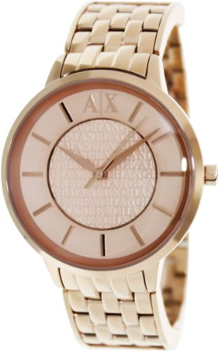 Armani Exchange Women's AX5305 Rose-Gold Stainless-Steel Quartz Watch with Rose-Gold Dial