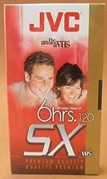 JVC T-120 SX Premium Quality 6-hour EP VHS Video Cassette Tape