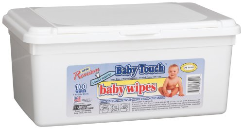 Baby Touch Baby Wipes, Sp, Plastic High Tub, 100-Count Tub (Pack of 12)