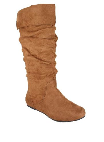 buy cheap quot cuffed faux suede slouch boot discount review