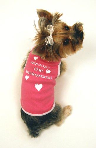 I See Spot's Dog Pet Cotton T-Shirt Tank, Always the Bridesmaid, Large, Taffy