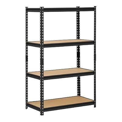 Edsal Black Steel Storage Rack with Adjustable Shelves