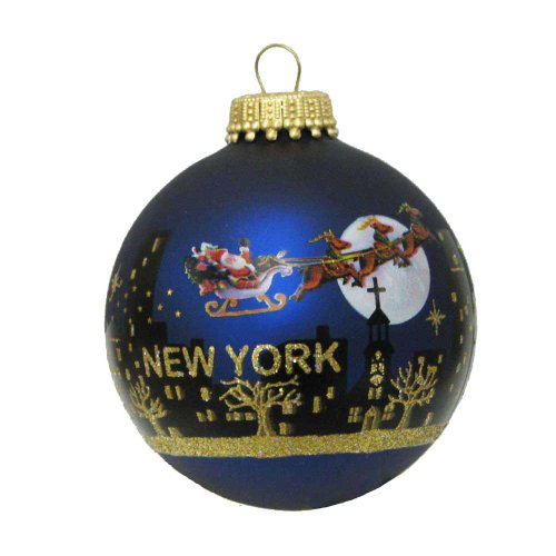 Kurt Adler New York Santa Skyline Painted Ball Ornament, 2-5/8-Inch (Kurt Adler Ornaments New York compare prices)