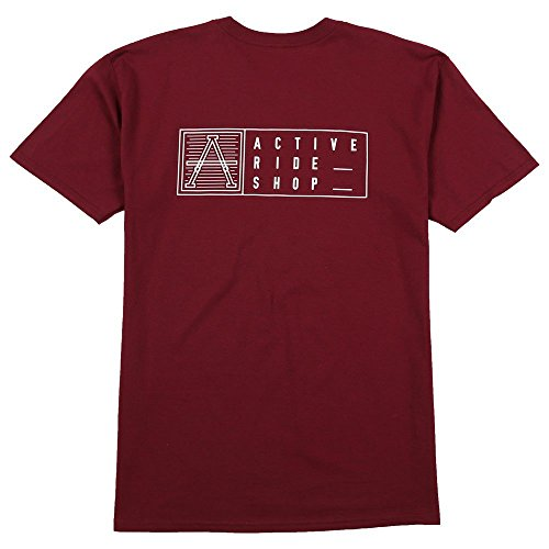 Active R/S Card T-Shirt in Burgundy - M (Active Ride Shop Clothing compare prices)