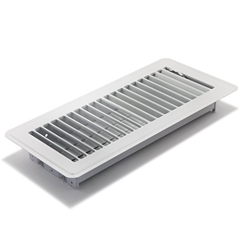 Accord ABFRWH410 Floor Register with Louvered Design, 4-Inch x 10-Inch(Duct Opening Measurements), White (Angled Floor Vents compare prices)
