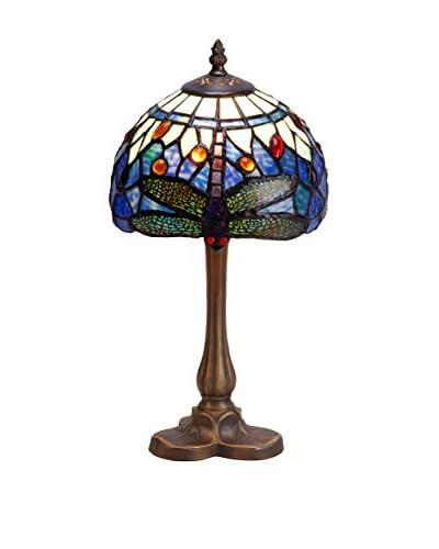 TiffanyLuz Lámpara De Mesa Azul