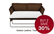 Abbey Medium Sofa Bed - Leather