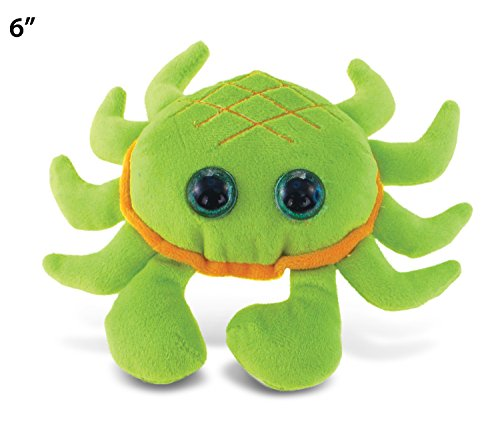 "Big Eye Green Crab Plush, 6"" - 1"