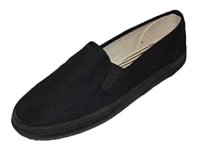 Mens Canvas Deck Shoes Sneakers 3 Colors Available (7, Black Decks)