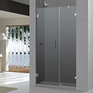 Dreamline shdr 23407210 01 unidoorlux frameless hinged 40 - Wd40 on glass shower doors ...