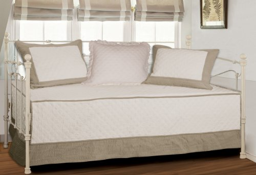 Greenland Home Brentwood Daybed Set, Ivory/Taupe front-958383