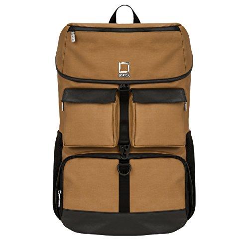 lencca-logan-serie-sac-a-dos-dslr-sac-depaule-camera-bag-ordinateurs-portables-sacs-a-dos-marron