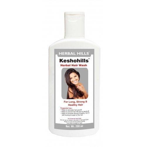 Keshohills Hair Wash Ayurvedic Shampoo - Mixed Herbal Ingredients With No Use Of Chemicals. Best Ayurvedic Shampoo For Hair Loss