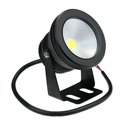 Coromose 12V 10W Outdoor Led Underwater Pool Garden Waterproof Lamp Light (Black)