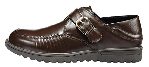 Index Multifunction Leather Oxfords Business Shoes For Man(10 D(M)Us, Brown)