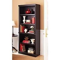 Better Homes and Gardens Ashwood Road 5 shelf Bookcase (Black / Cherry)