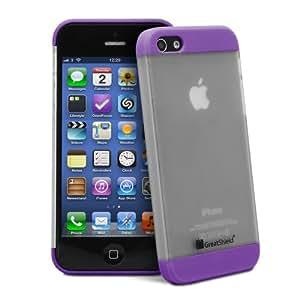 GreatShield GUARDIAN Series Double Slide Case for Apple iPhone 5 / 5S (Purple)