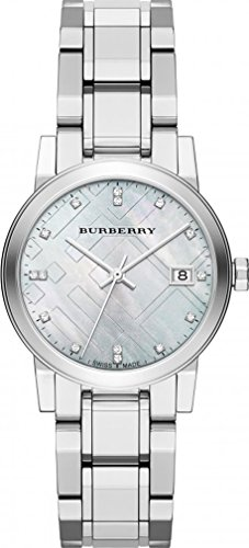 Burberry Diamond Accent Stainless Steel Ladies Watch Bu9125