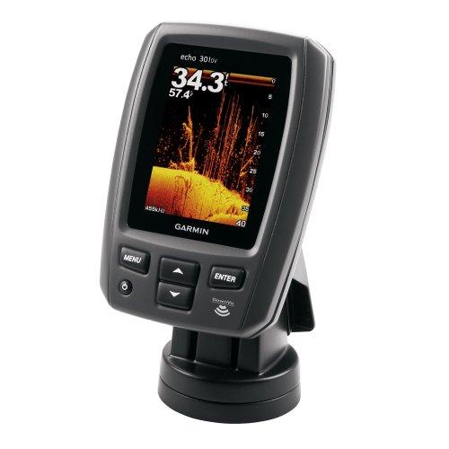 Garmin echo 301dv Fishfinder w/4-Pin All-in-One 77/200 kHz HD-ID/DownVü Transducer 010-01255-00
