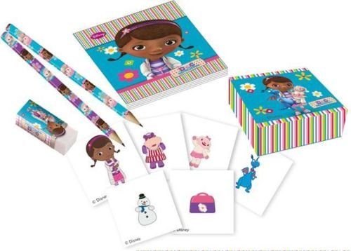 Doc McStuffins Birthday Party 16 Piece Stationary Pack - Loot Bag Fillers (Baking Filler compare prices)