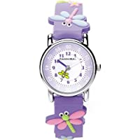 Cannibal Kid's Quartz Watch with White Dial Analogue Display and Purple Resin Strap CK198-16