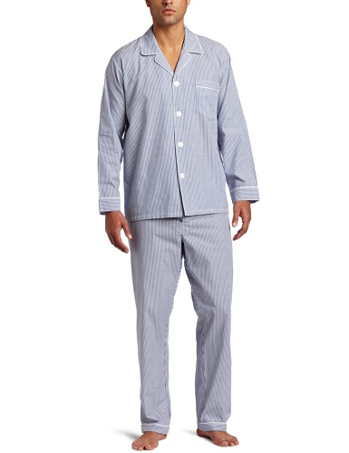 Majestic International Men's Basics Bengal Stripe Long Sleeve Pajama
