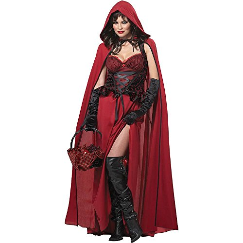 Little Dark Red Riding Hood Costume - Large - Dress Size 10-12