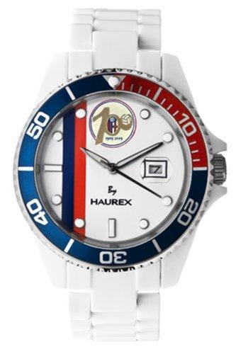 Haurex Italy BC339UWC - Reloj analógico de cuarzo para hombre con correa de plástico, color blanco