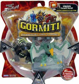 Gormiti Series 1 Action Figure 2-Pack - Steelback & Steel Beak - 1