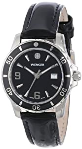 Wenger Ladies 70365 Sport Black Dial Black Leather Watch by Wenger
